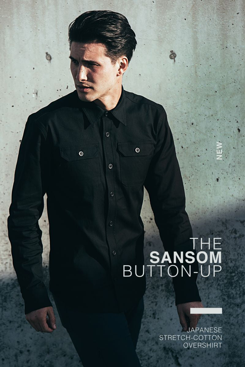 The Mission Workshop Sansom : Button-up Japanese Stretch-Cotton Overshirt