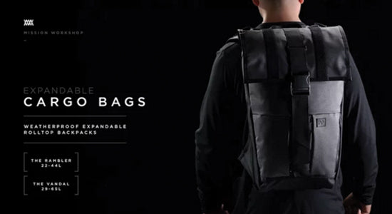 Mission Workshop Video: Expandable Cargo Pack Backpack Informational Video