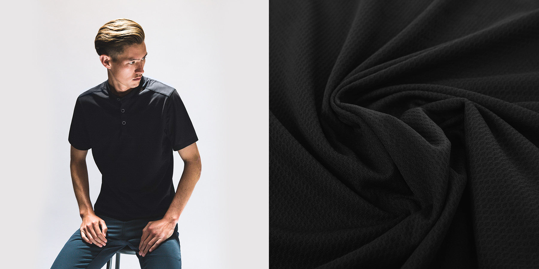 The District : Quick-Dry Synthetic Henley Tee