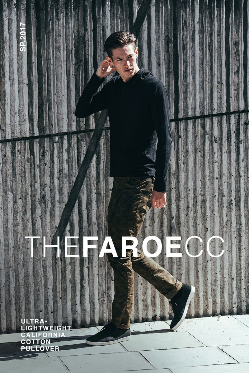 The Mission Workshop Faroe : CC. California Cleaner Cotton Pullover Made in San Francisco, California.