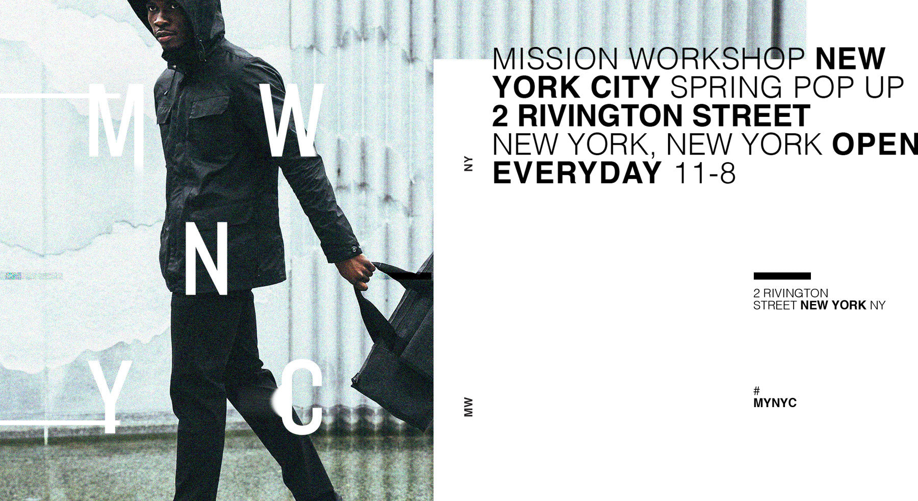 Mission Workshop New York Pop-up Location Information