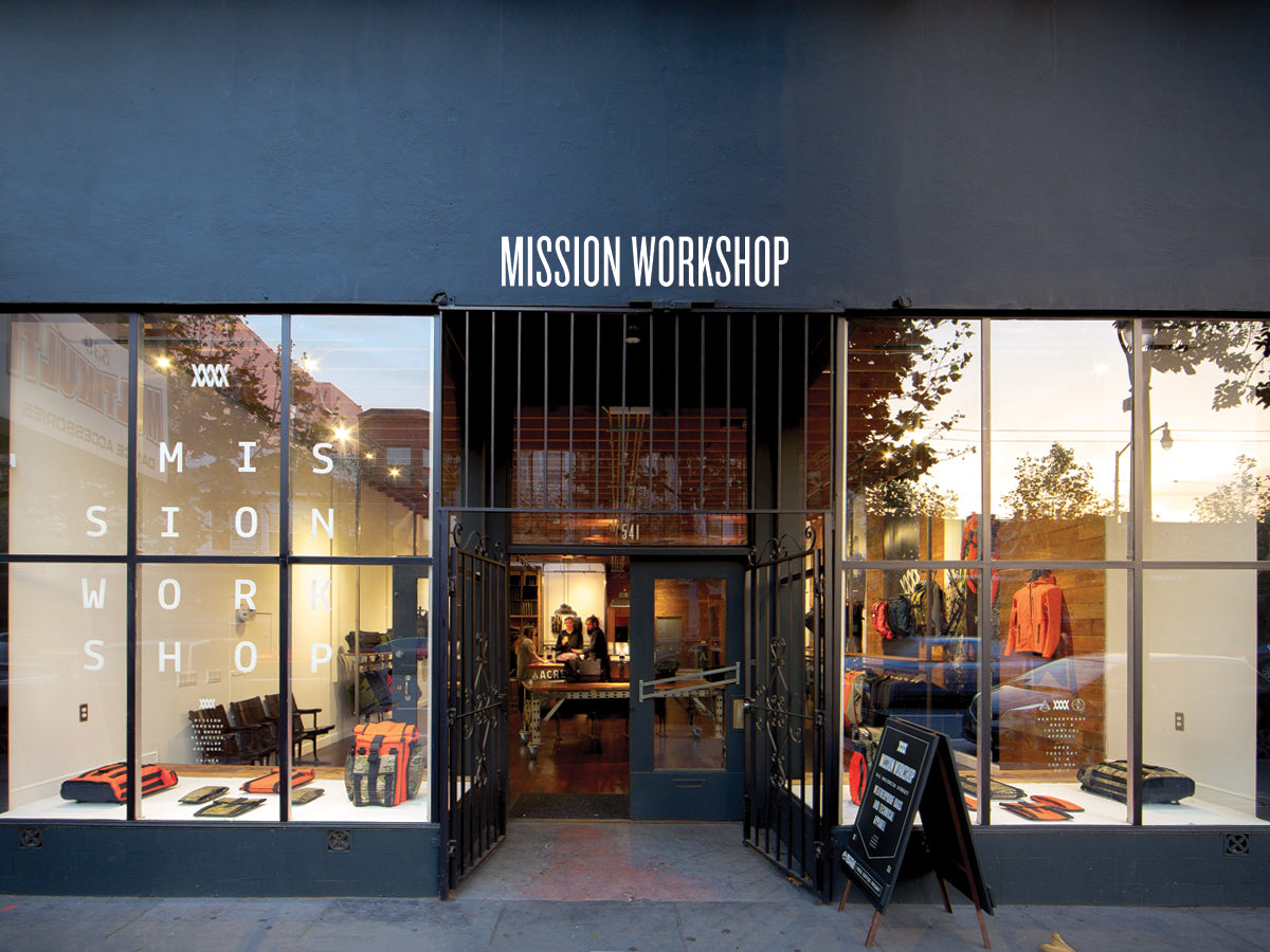 Mission Workshop San Francisco, California Store
