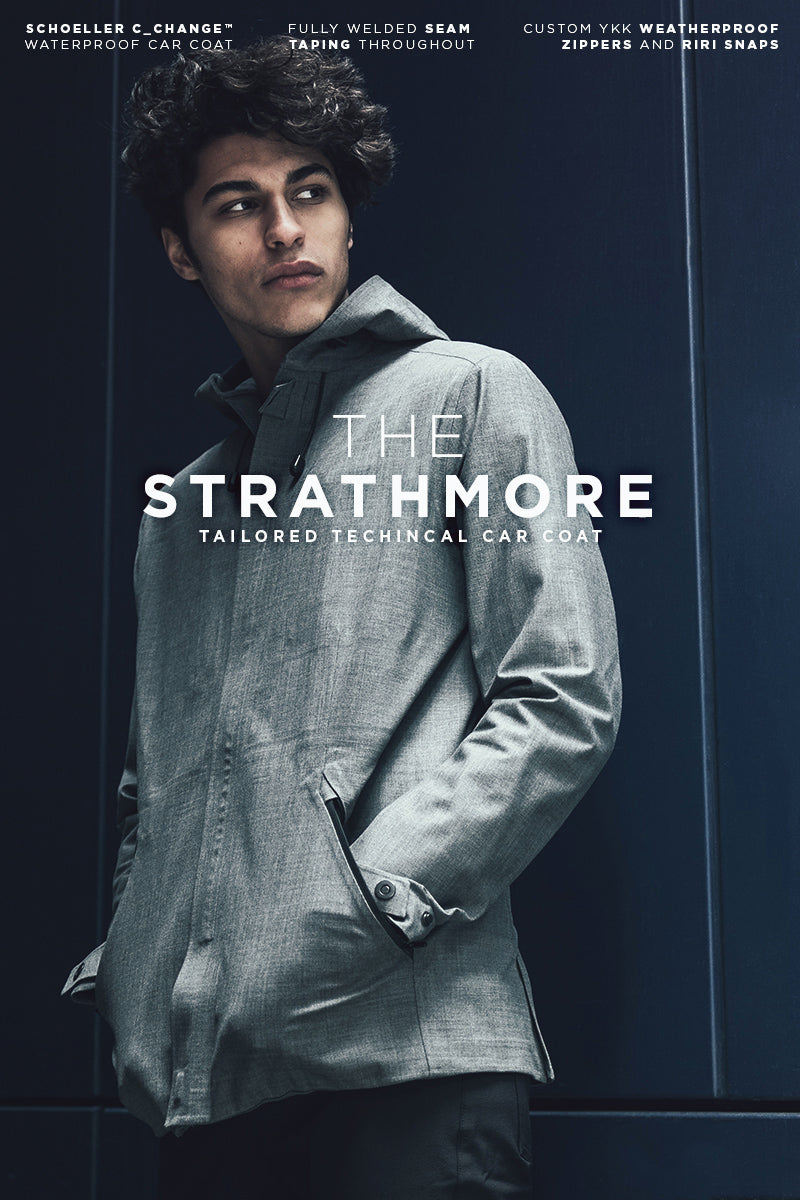 The Mission Workshop strathmore Schoeller c_change™ Waterproof Car Coat