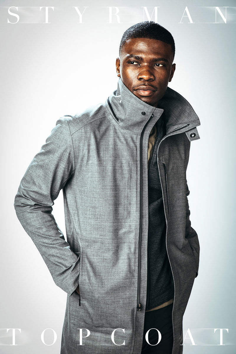 The Styrman Waterproof Topcoat with Scholar Technology by Mission Workshop