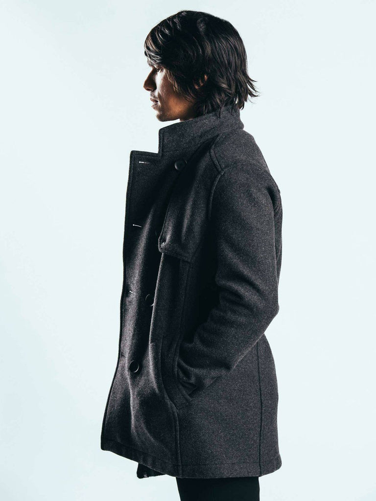 The Bridgeman Pea Coat by Mission Workshop - Weatherproof Bags & Technical Apparel - San Francisco & Los Angeles - Built to endure - Guaranteed forever