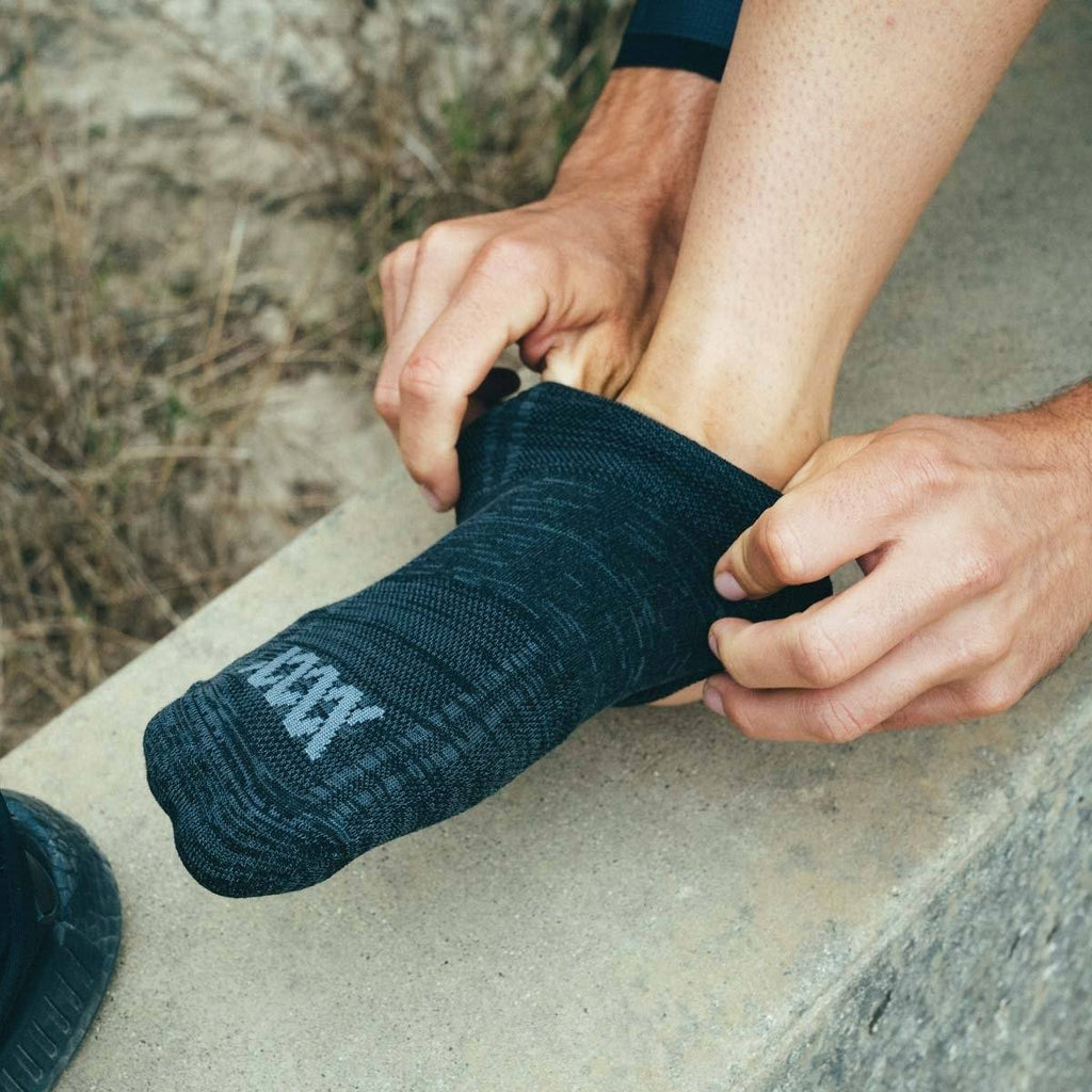 RUNBIKEHIKE Socks — Low-Cut by Mission Workshop - Weatherproof Bags & Technical Apparel - San Francisco & Los Angeles - Built to endure - Guaranteed forever