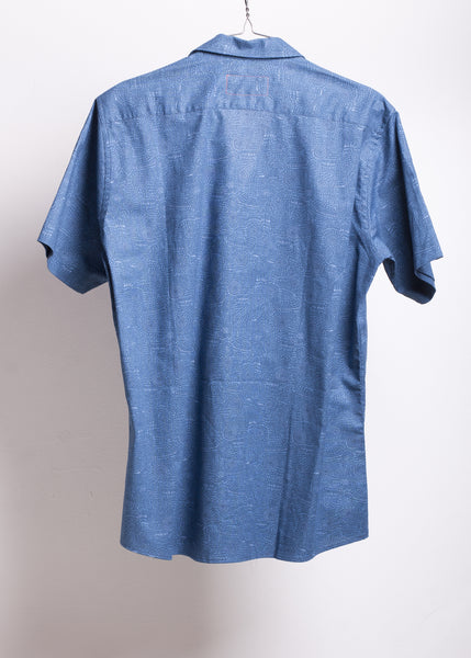 Desconocido - Sporty Collar Shirt on Summer Blue.