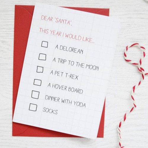NAA Christmas Wish List Card