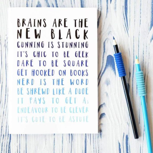 NAA Ombre Blue Brainy Notebook
