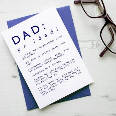 NAA Dad Definition Card