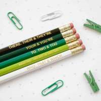 NAA Ombre Green Grammar Pencil Set