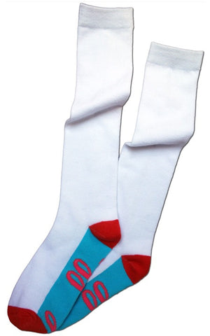 Hello Sole Knee Sock -- White