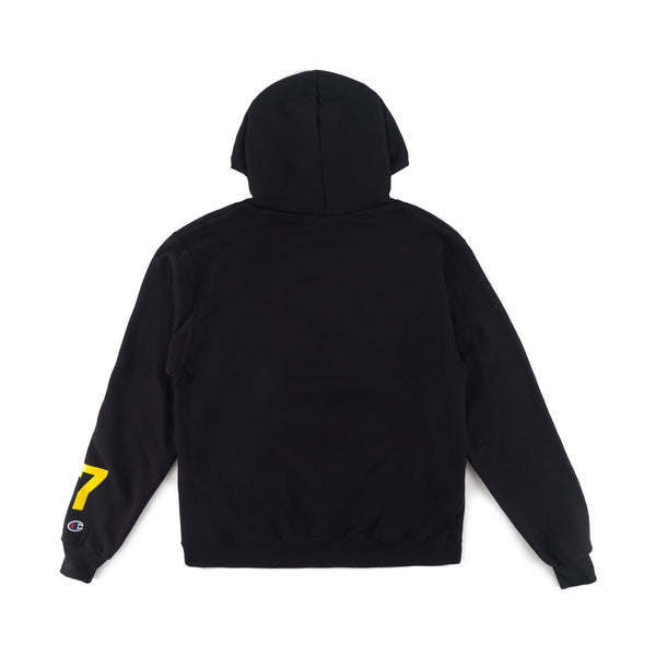 Script x Champion Hoodie in Black