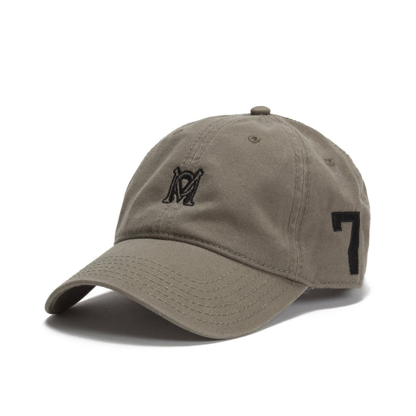 Monogram Hat in Olive Green