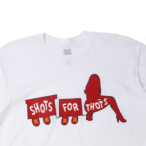 *LTD* Shots For Thots Tee in White