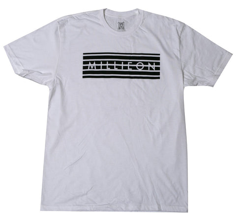 Barred Tee in White