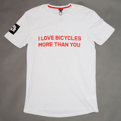 I LOVE BICYCLES MORE THAN YOU T-Shirt - FYXO Cycling Apparel