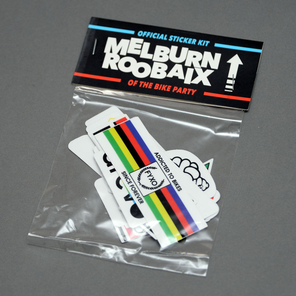 Melburn Roobaix Sticker Set | FYXO - FYXO Cycling Apparel