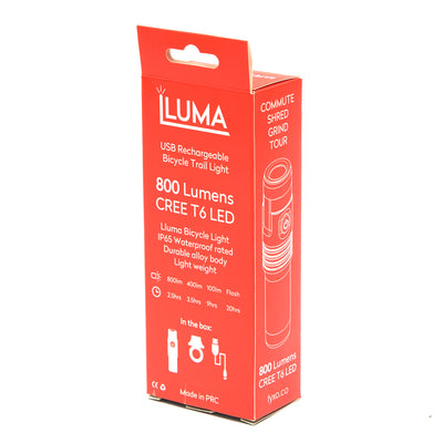 FYXO iluma USB Rechargeable LED light - 800 lumen - FYXO Cycling Apparel
