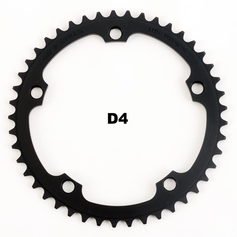 130BCD 1/8 Track Chainring - BLACK - FYXO Cycling Apparel