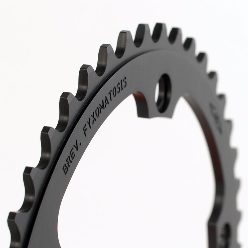 135BCD 1/8 Track Chainring - BrevFyxo - BLACK - FYXO Cycling Apparel