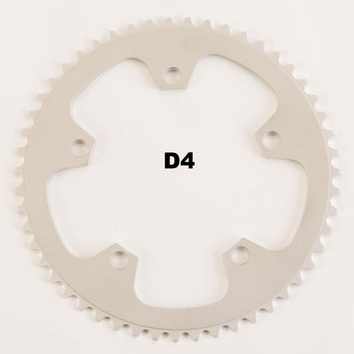130BCD 1/8 Track Chainring - SILVER - FYXO Cycling Apparel