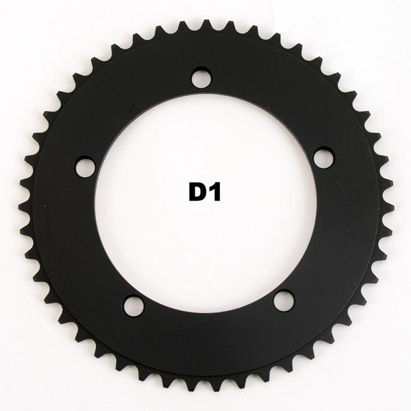 130BCD 1/8 Track Chainring - BLACK