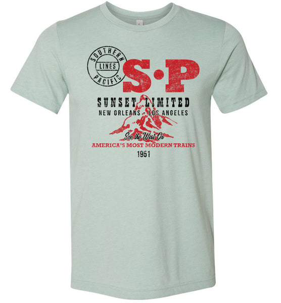 Southern Pacific Premium Railroad T-Shirt - Sunset Limited (Adult Crew)