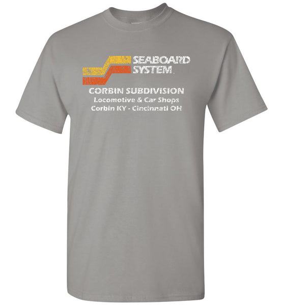 Seaboard System Railroad T-Shirt - Grey (Adult/Youth)