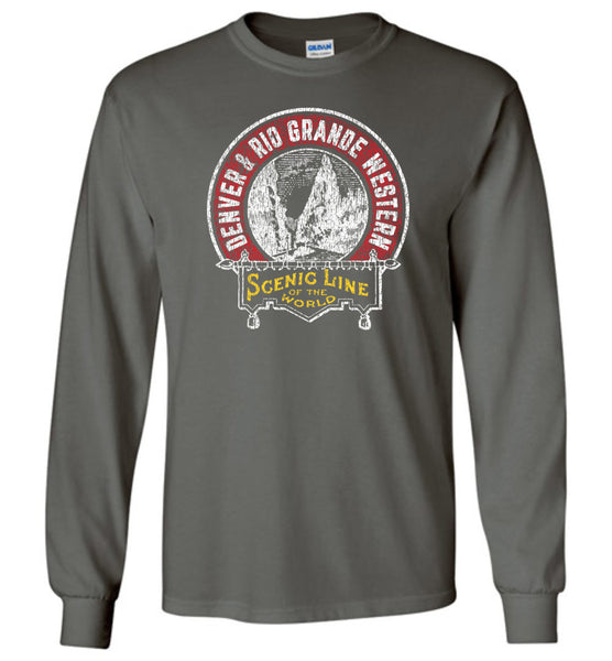 Rio Grande Railroad Long Sleeve T-Shirt - Royal Gorge (Adult/Youth)
