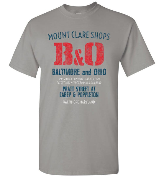 Baltimore & Ohio Railroad T-Shirt - Mount Clare (Adult/Youth) - Ringaboy LLC-