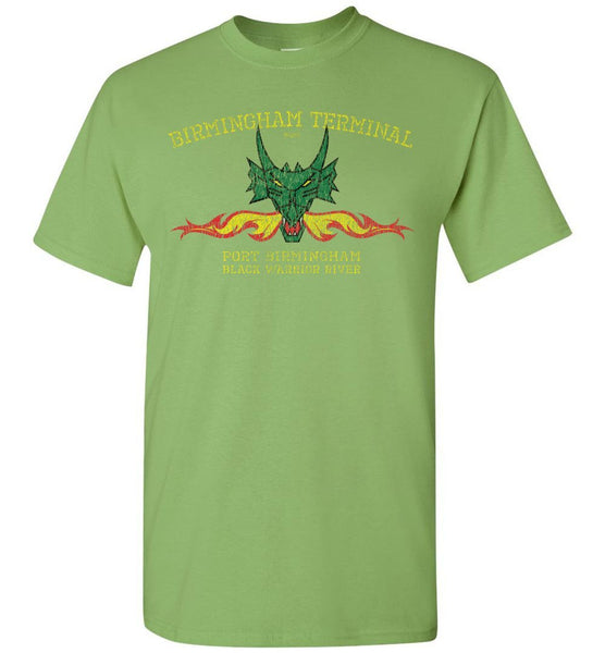Birmingham Terminal Railway T-Shirt - Green (Adult/Youth) - Ringaboy LLC-