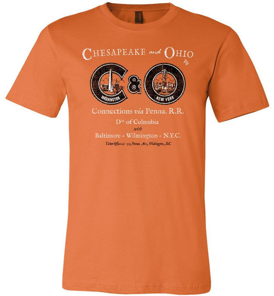 Chesapeake & Ohio Premium Railway T-Shirt - DC-NYC (Adult Crew) - Ringaboy-
