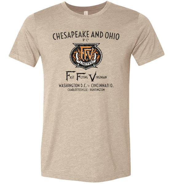 Chesapeake & Ohio Premium Railway T-Shirt - FFV (Adult Crew) - Ringaboy-