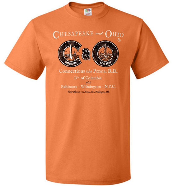 Chesapeake & Ohio Railway T-Shirt - DC-NYC (Adult/Youth) - Ringaboy LLC-