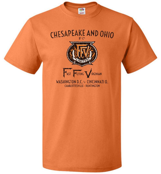 Chesapeake & Ohio Railway T-Shirt - FFV (Adult/Youth) - Ringaboy LLC-