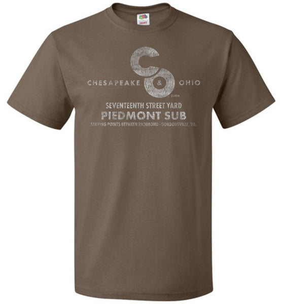 Chesapeake & Ohio Railway T-Shirt - Piedmont Sub (Adult/Youth) - Ringaboy LLC-