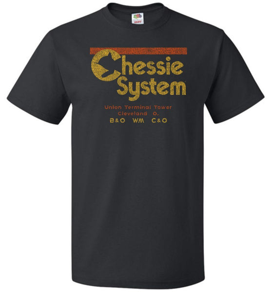 Chessie System Railroad T-Shirt - Inverted (Adult/Youth) - Ringaboy LLC-