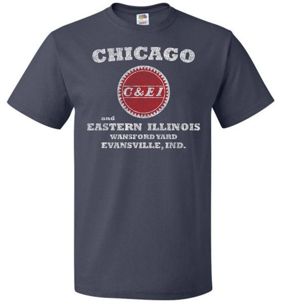 Chicago & Eastern Illinois Railroad T-Shirt - Buzzsaw (Adult/Youth) - Ringaboy LLC-