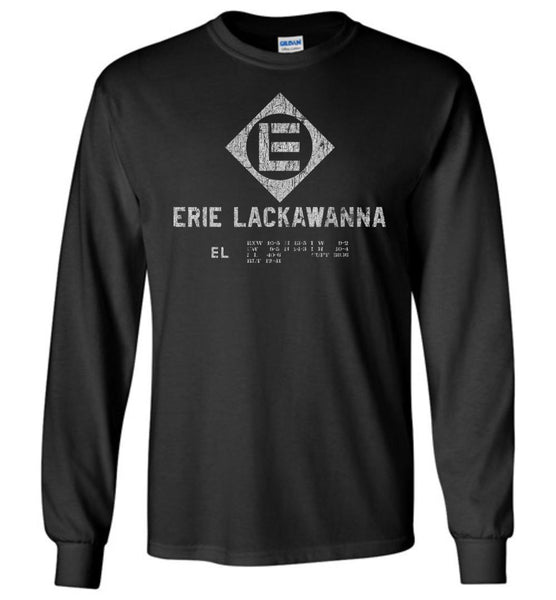 Erie Lackawanna Railroad Long Sleeve T-Shirt - Rolling Stock (Adult/Youth) - Ringaboy LLC-