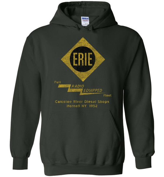 Erie Railroad Heavyweight Hoodie - Radio (Adult/Youth) - Ringaboy LLC-