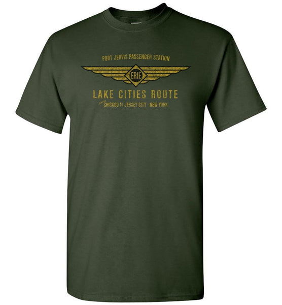 Erie Railroad T-Shirt - Lake Cities Route (Adult/Youth) - Ringaboy LLC-