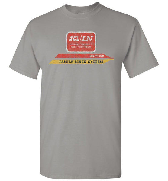 Family Lines System Railroad T-Shirt - Grey (Adult/Youth) - Ringaboy LLC-