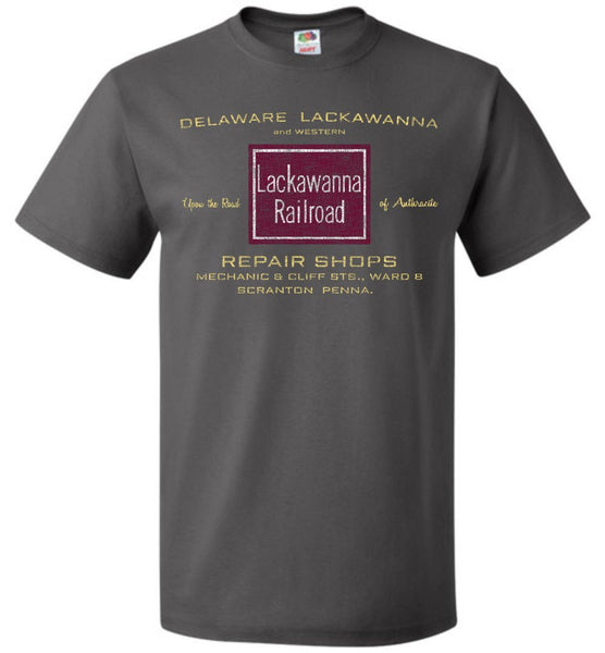 Lackawanna Road T-Shirt - Charcoal (Adult/Youth) - Ringaboy-