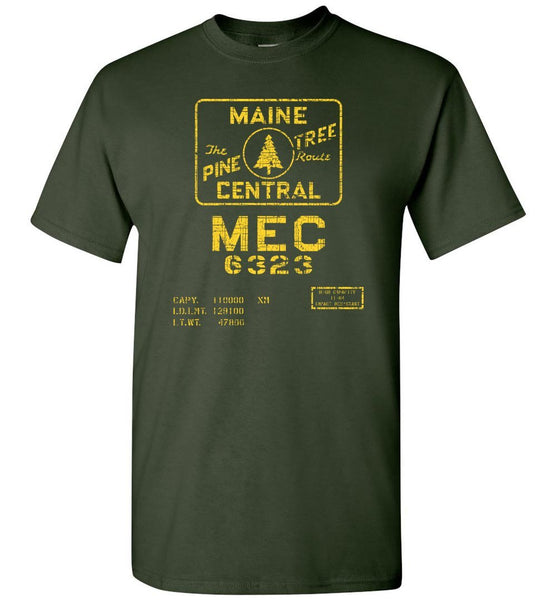 Maine Central Railroad T-Shirt - Boxcar (Adult/Youth) - Ringaboy LLC-
