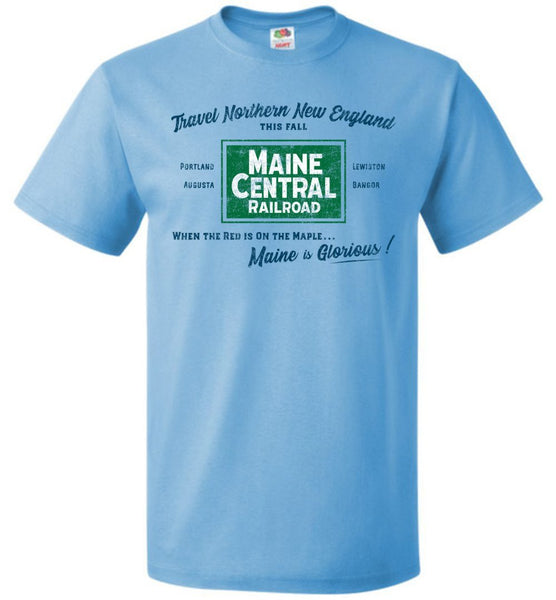 Maine Central Railroad T-Shirt - Fall Travel (Adult/Youth) - Ringaboy LLC-