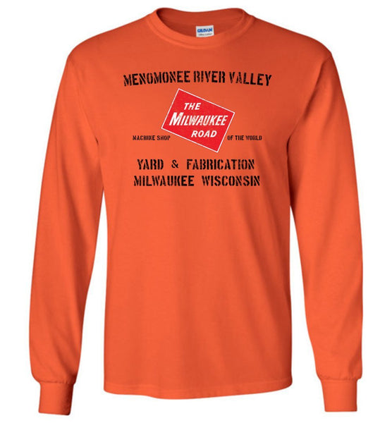 Milwaukee Road Long Sleeve T-Shirt - Menomonee (Adult/Youth) - Ringaboy LLC-