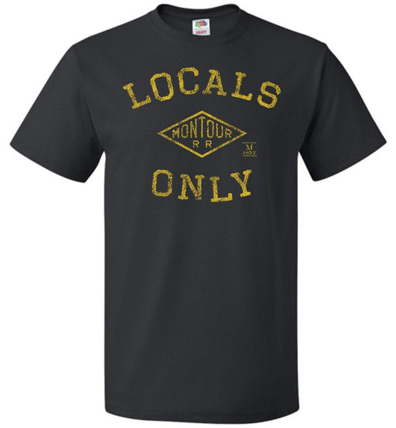 Montour Railroad T-Shirt - Locals Only (Adult/Youth) - Ringaboy LLC-