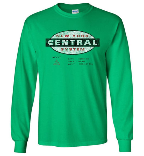 New York Central Railroad Long Sleeve T-Shirt - Oval (Adult/Youth) - Ringaboy LLC-