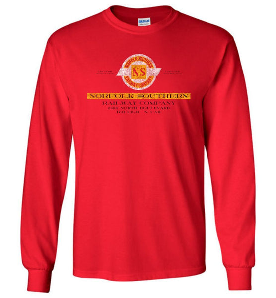 Norfolk Southern Railway Long Sleeve T-Shirt - Red (Adult/Youth) - Ringaboy LLC-